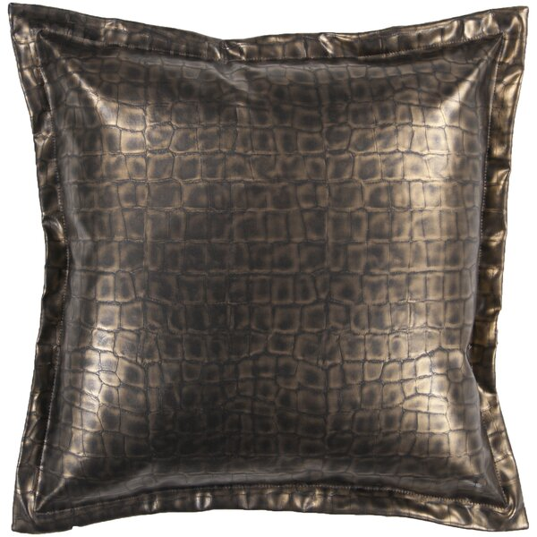Mangum 100% Leather Throw Pillow by Bloomsbury Market